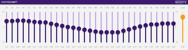GEQ31V is a VST AU 31 bands graphic equalizer plugin for Windows and macOS